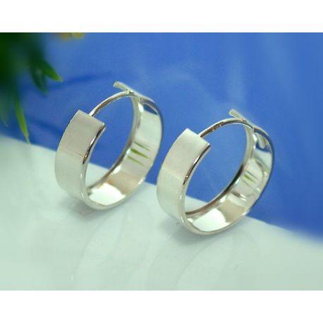 Creolen Silber 925 Ohrringe Silberschmuck SC41