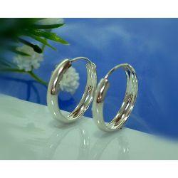 Creolen Silber 925 Ohrringe Silberschmuck SC33
